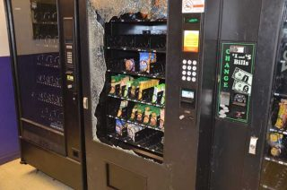 Prevent vending machine vandalism
